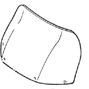 (1) Стекло ветровое YAMAHA VK-540 (thumb2526)