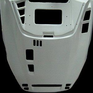 (1) Капот с шумоизоляцией белый YAMAHA VK540 8AC-77111-30-00 (дубликат) (thumb2443)